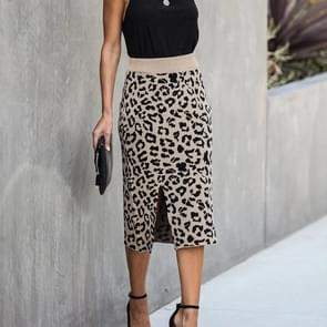 Wild Leopard Package Hip Short Skirts (Apricot)