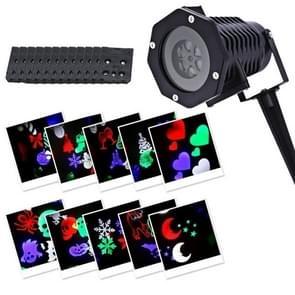 YWXLight 12-kaart IP65 waterdichte Snowflake Kerstprojectie licht 6W (EU-stekker)