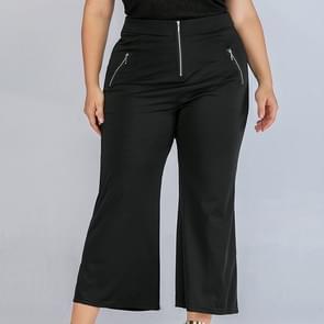 Mode vrouwen groot formaat casual broek (kleur: zwart maat: XL)