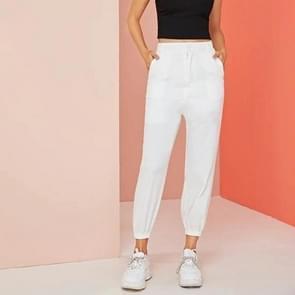 Vrouwen stretch broek broeken (kleur: wit maat: M)