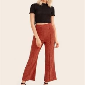 Flared corduroy broek met hoge taille (kleur: rood maat: XL)