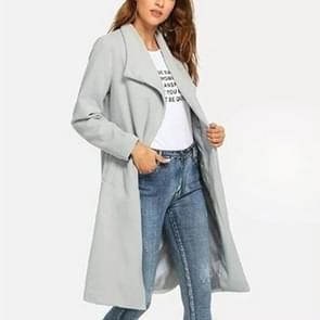 Vrouwen wollen lange vacht (kleur: grijs maat: XL)