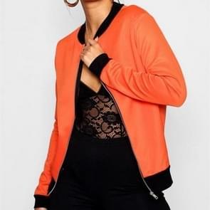 Netto kleur honkbal uniform korte jas jas (kleur: oranje maat: S)