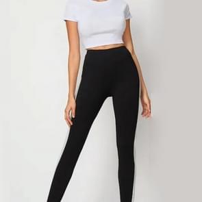 Yoga beweging stiksels legging (kleur: zwart maat: S)