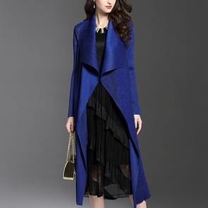 Fold mantel vacht lange sectie Windbreaker (kleur: blauw maat: One size)