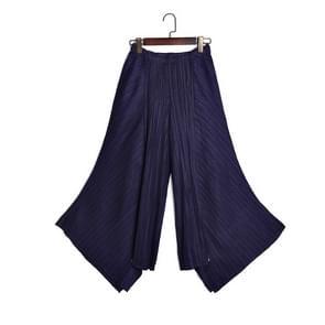 Losse grote Swing temperament casual broek vouwen (kleur: Navy blauw maat: One size)
