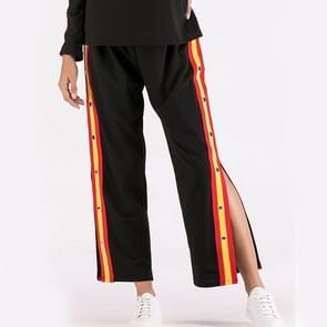 Casual losse singelband stiksels Split Tpants (kleur: zwart maat: L)