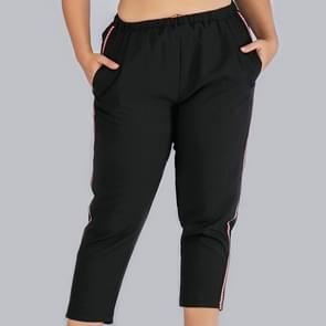 Plus size vrouwen bijgesneden broek (kleur: zwart formaat: 0XL)