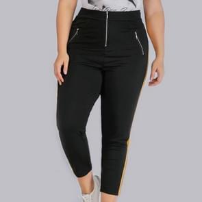 Plus grootte bijgesneden brei bijgesneden broek (kleur: zwart maat: 1XL)
