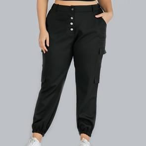 Plus size vrouwen bijgesneden overalls (kleur: zwart formaat: 0XL)