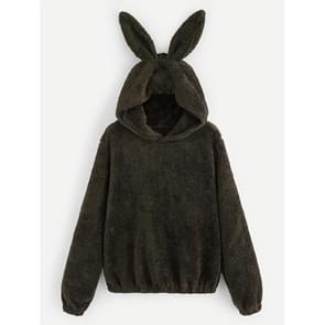 Pluche konijn oor Sweatshirt (kleur: als Toon grootte: S)