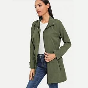 Mode lange mouw Windbreaker jas (kleur: Army Green size: S)