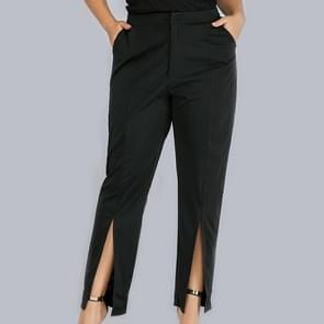 Vrouwen plus grootte potlood broek (kleur: zwart maat: 4XL)
