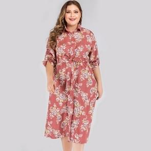 Plus Size bedrukte jurk (kleur:als showgrootte:XL)
