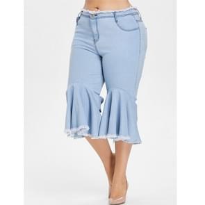 Mode vrouwen plus size casual broek (kleur: baby blauw maat: L)