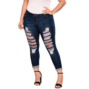Shattered hoge Stretch Denim broek (kleur: donkerblauw maat: 2XL)