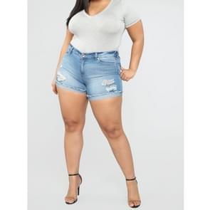 Plus Sized cowgirl shorts hotpants (kleur: hemelsblauw maat: L)