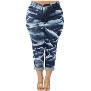Mode vrouwen plus size casual broek (kleur: donkerblauw maat: L)