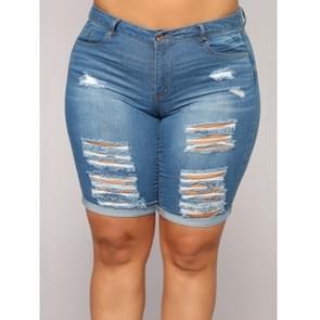 Plus Size cowgirl shorts hotpants (kleur: blauw maat: 4XL)