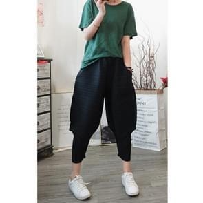 Vrouwen losse plus grootte bodems casual broek (kleur: zwart maat: One size)
