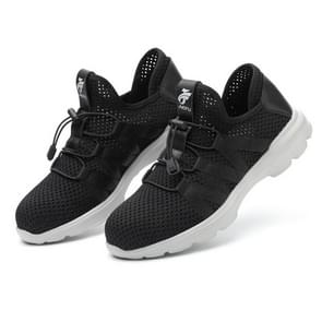 Jiefu Light And Breathable Flying Fabric Anti Smashing And Anti Piercing Electrical Insulating Protective Safety Shoes (Color:Black Size:44)