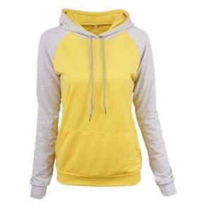 Sport Casual Kleur Contrast Hooded Sweater Herfst Winter Slim Tie Top (Kleur: Grijs formaat: L)