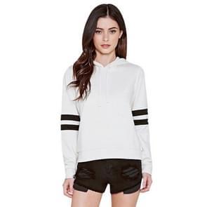 Sport Casual Hooded Sweater Herfst en Winter Style Slim Fit Veelzijdige Top (Kleur: Wit Formaat: XL)