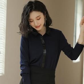 Fashion Casual Suit Bottoming Shirt (Kleur: Blue Size:S)