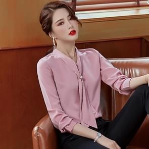 Fashion Casual Pak Bottoming Butterfly Collar Shirt (Kleur: Roze Maat: M)