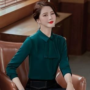 Fashion Casual Suit Bottom Stand Collar Shirt (Kleur: Groene maat: L)