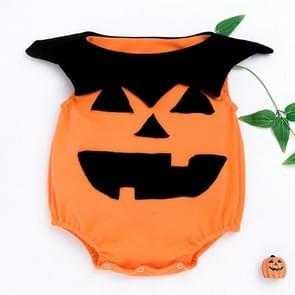 Halloween Sleeveless Pumpkin Kostuum Childrens Kleding Baby Baby Kleding One-piece Hip Kostuum (Kleur: Gele maat: 59)
