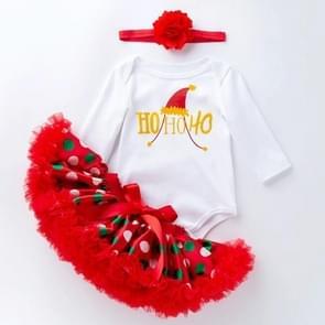 Baby Lange Mouw Cartoon Romper Net Garen Tutu Drie-delige Childrens Wear (Kleur: Kerst hoeden Grootte:59)