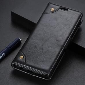 Copper Buckle Nappa Texture Horizontal Flip Leather Case With Holder & Double-sided Buckle & Three Cards For Galaxy J4 CORE (Black)
