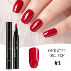 Nagellak 3 In 1 nagel Gel Pen Pen lui lijm Long-lasting nagel nagellak Pen 5ml (#1)