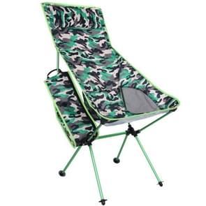 Outdoor draagbare camouflage vouwen Camping stoel licht vissen strandstoel luchtvaart aluminiumlegering rugleuning fauteuil