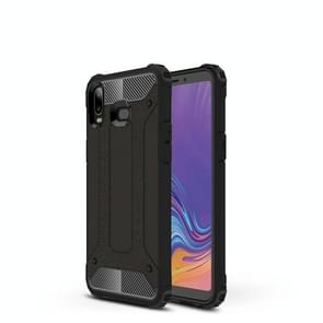 Magic Armor TPU + PC Combination Case for Galaxy A6s (Black Gold)