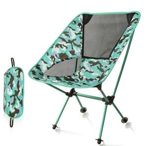 Outdoor Camouflage Portable Folding Camping Chair Light Fishing Beach Chair Aviation Aluminum Alloy Backrest Recliner