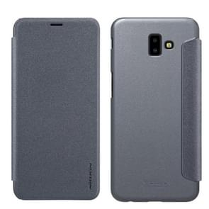 NILLKIN Frosted Texture Horizontal Flip Leather Case For Galaxy J6+ / J6 Prime (Gray)