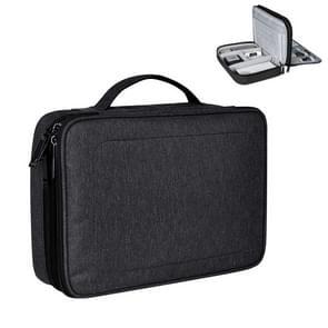 Kleine Nylon waterdicht vak Type Multi-function opbergtas voor iPad  formaat: 24 X 18 X 8 cm (zwart)