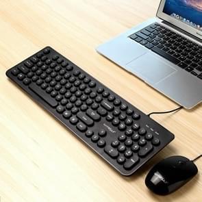 Warwolf Punk bedraad toetsenbord bedraad muis Set (zwart)