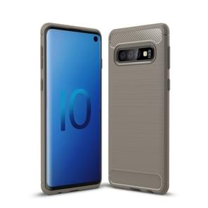 Brushed Texture Carbon Fiber TPU Case for Galaxy S10