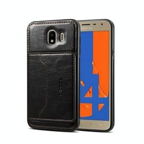 Dibase 2 in 1 Crazy Horse Texture PU Leather Case for Galaxy J4 2018, with Holder & Card Slot
