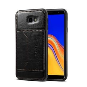 Dibase 2 in 1 Crazy Horse Texture PU Leather Case for Galaxy J4+ (2018), with Holder & Card Slot