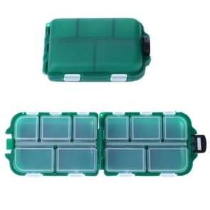 HENGJIA qt061-1 Ten Grid Clamshell Fishing Gear Storage Fishing Tackle Box