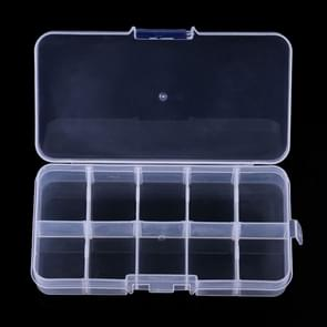 HENGJIA qt023 Ten Grid Waterproof Multifunction Fishing Tool Gear Storage Transparent Fishing Tackle Box