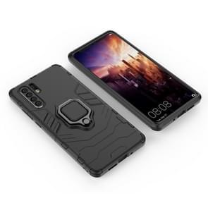 PC + TPU schokbestendige beschermhoes voor Huawei Mate P30 Pro  met magnetische ringhouder (zwart)