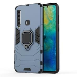 PC + TPU Shockproof Protective Case for Galaxy A9(2018), with Magnetic Ring Holder (Gray)