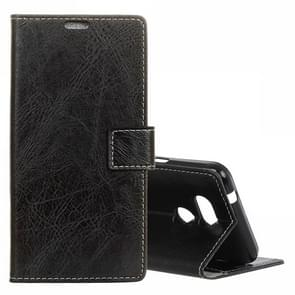 Retro Crazy Horse Texture Horizontal Flip Leather Case for HTC Desire 12S, with Wallet & Holder & Card Slots & Photo Frame (Black)