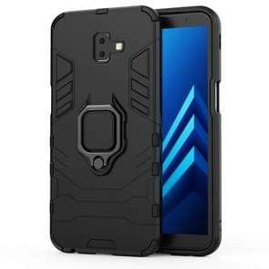 PC + TPU Shockproof Protective Case for Galaxy J6+, with Magnetic Ring Holder