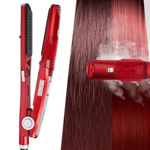 Ufree U-326 Steam Hydration Hair Straightener Electric Plywood Hairdressing Tools for Dry / Wet Hair, EU Plug